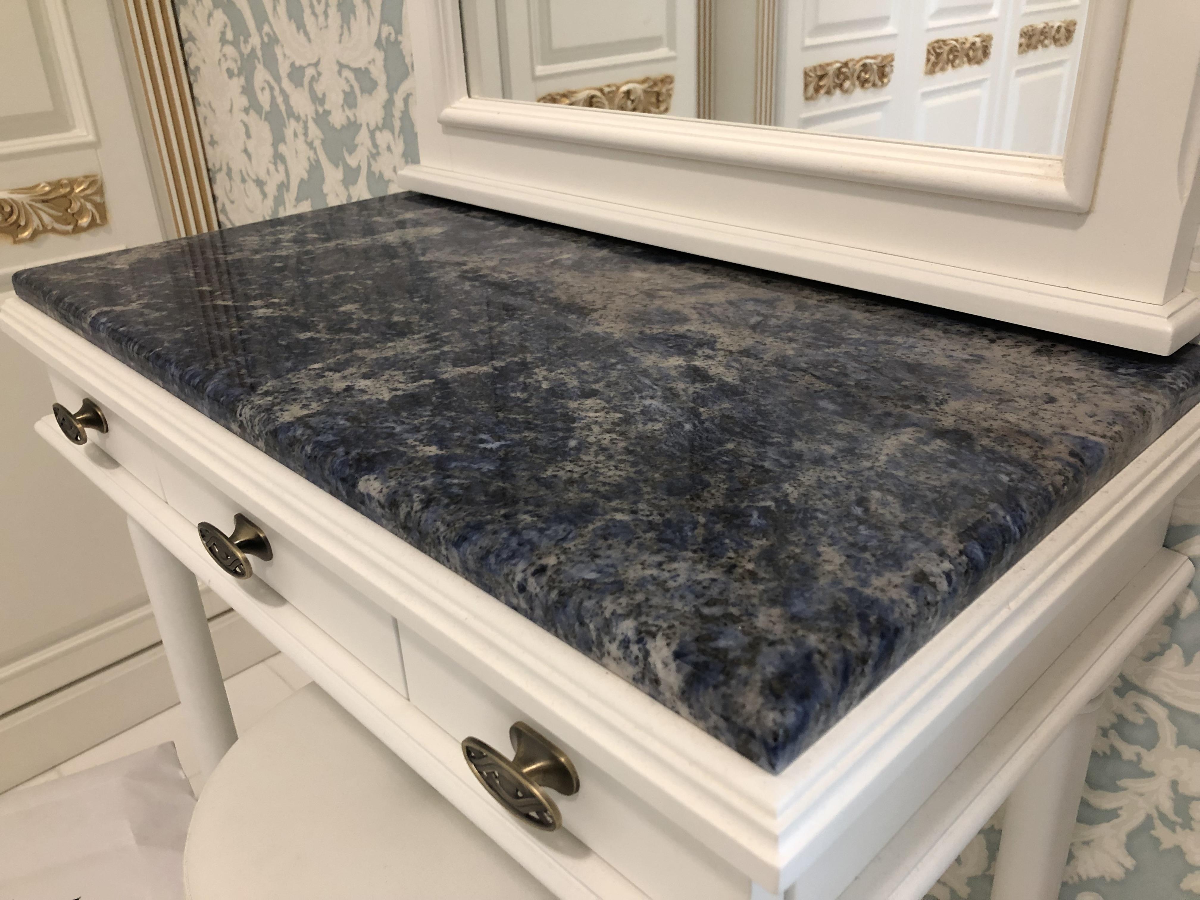 Lapis Lazuli Gránit x2cm fésülködő asztal takaró, fényes felülettel, él és oldalmegmunkálással